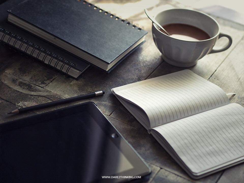 Journal, Coffee and Ipad